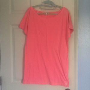 Victoria's Secret Sleep shirt tunic length pink